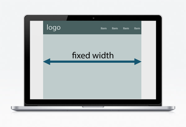 Fixed width website